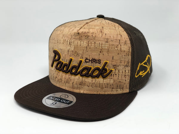 Chris Paddack Script Hat - Brown Cork Snapback