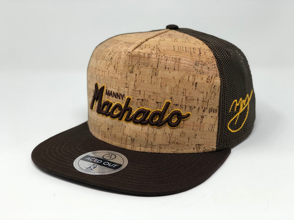 Manny Machado Script Hat - Brown Cork Snapback