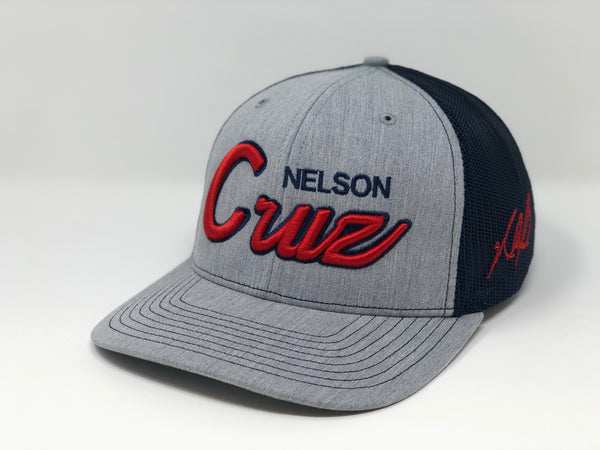 Nelson Cruz Script Hat - Grey/Navy Trucker