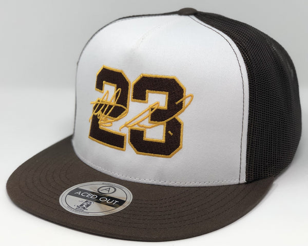 Fernando Tatis Jr 23 - White/Brown Flatbill Trucker