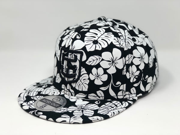 Kolten Wong Logo Hat - Black/White Aloha Snapback - Limited Edition of 16