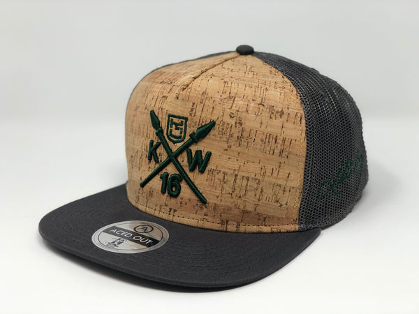 Kolten Wong KW16 Green Compass Hat - Grey/Cork Snapback - Limited Edition of 16