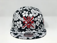 Kolten Wong KW16 Red Compass Hat - Black/White Aloha Snapback - Limited Edition of 16