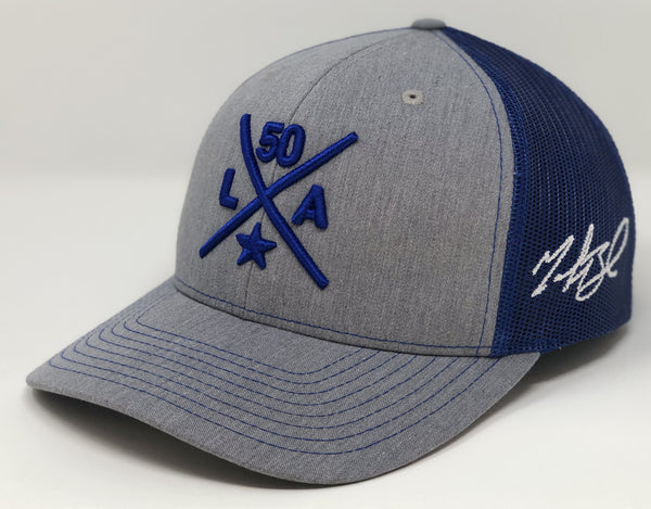 Mookie Betts Compass Hat - Grey/Royal Trucker