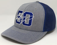 Mookie Betts 50 Hat - Grey/Royal Trucker