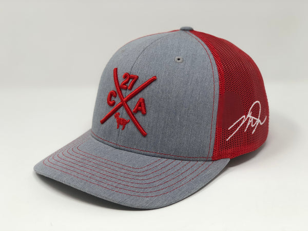 Mike Trout Compass Hat - Grey/Red Trucker