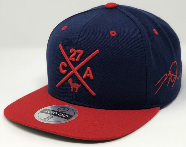 Mike Trout Compass Hat - Navy/Red Snapback