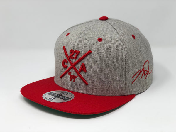 Mike Trout Compass Hat - Grey/Red Snapback