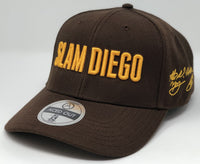 SLAM DIEGO - Brown Curved Snapback