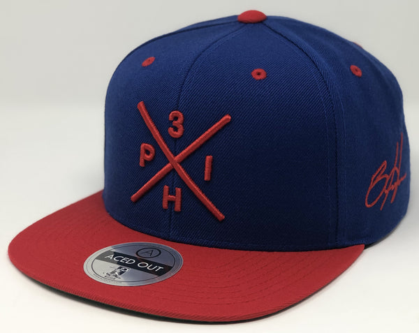 Bryce Harper Compass Hat - Royal/Red Snapback