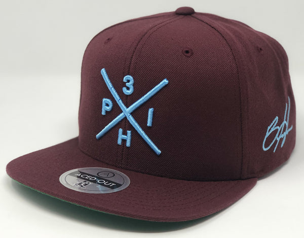 Bryce Harper Compass Hat - Maroon Snapback