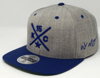 Whit Merrifield Compass Hat - Grey/Royal Snapback
