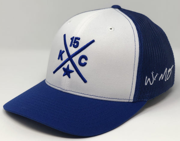 Whit Merrifield Compass Hat - White/Royal Trucker