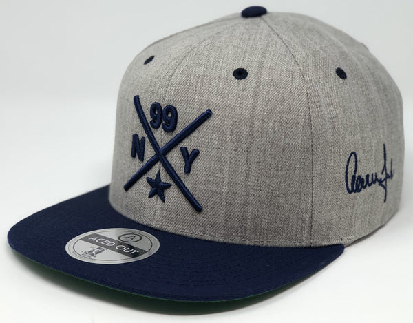 Aaron Judge Compass Hat - Grey/Navy Snapback