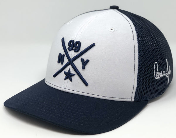 Aaron Judge Compass Hat - White/Navy Trucker