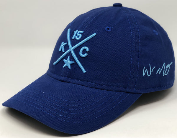 Whit Merrifield Compass Hat - Royal and Baby Blue Dad Hat