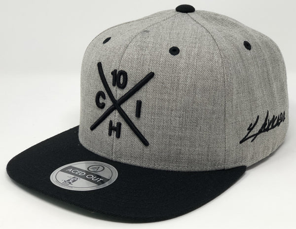 Yoan Moncada Compass Hat -  Grey/Black Snapback