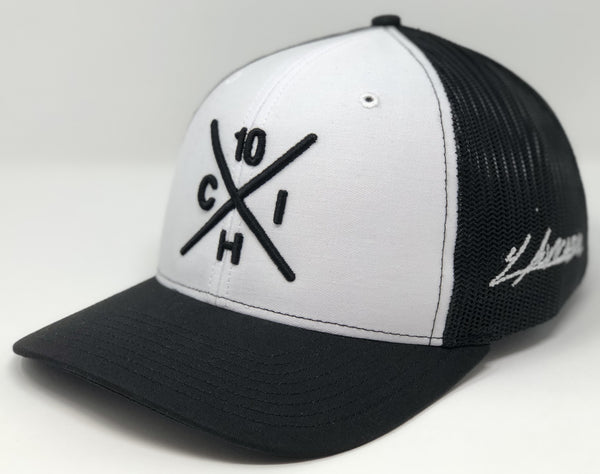 Yoan Moncada Compass Hat - White/Black Trucker