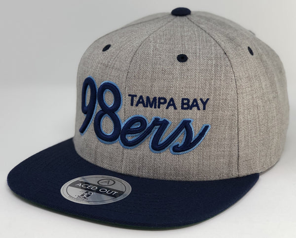 Tampa Bay 98ers Cap - Grey/Navy Snapback (BACK ORDERED)