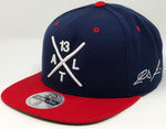 Ronald Acuna Jr Compass Hat - Navy/Red Snapback