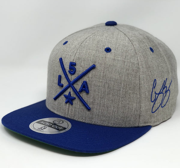Corey Seager Compass Hat - Grey/Royal Snapback