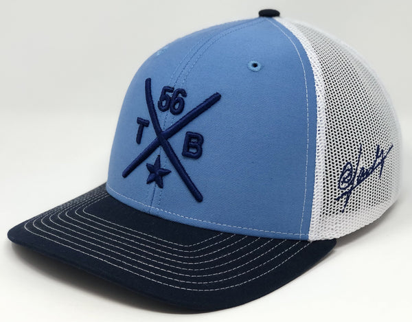 Randy Arozarena Compass Hat - Baby Blue/Navy/White Trucker