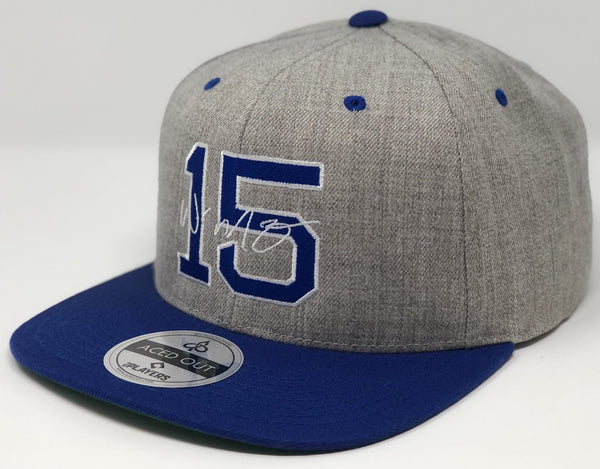 Whit Merrifield 15 Hat - Grey/Royal Snapback
