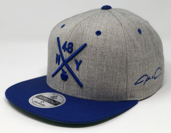 Jacob deGrom Compass Hat -  Grey/Royal Snapback