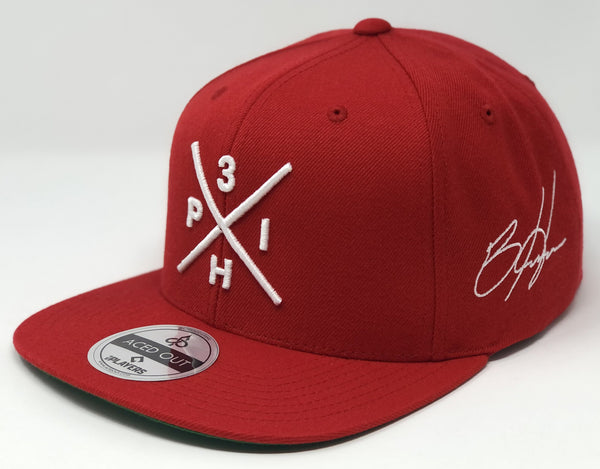 Bryce Harper Compass Hat - Red Snapback