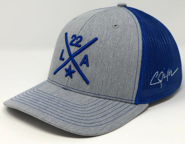 Clayton Kershaw Compass Hat - Grey/Royal Trucker