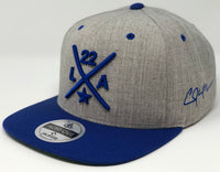 Clayton Kershaw Compass Hat - Grey/Royal Snapback