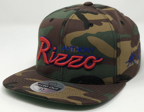 Anthony Rizzo Script Hat - Camo Snapback