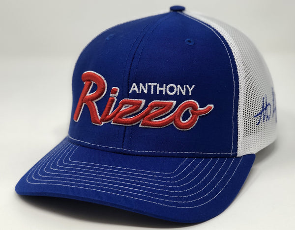 Anthony Rizzo Script Hat - Royal/White Trucker
