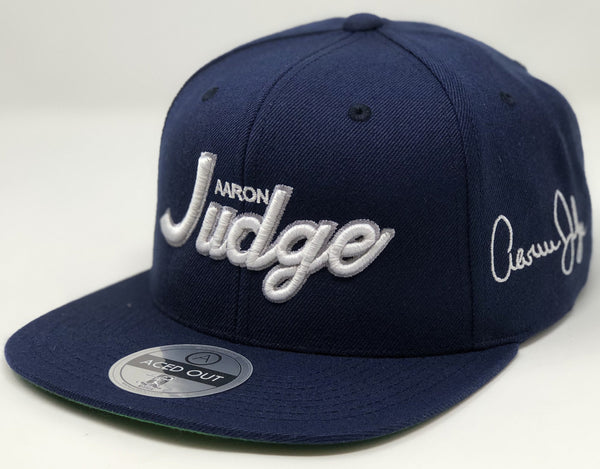 Aaron Judge Script Hat - Navy Snapback