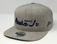 Ronald Acuna Jr Script Hat - Grey Snapback