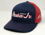 Ronald Acuna Jr Script Hat - Navy/Red Trucker