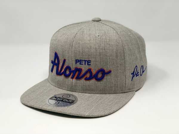 Pete Alonso Script Hat - Grey Snapback