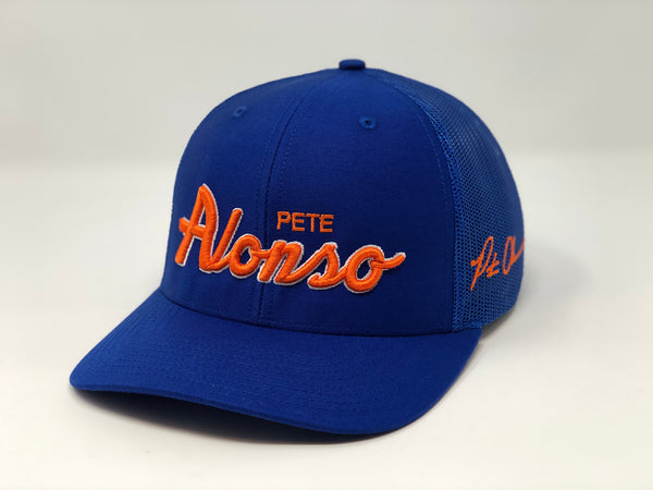 Pete Alonso Script Hat - Royal Trucker