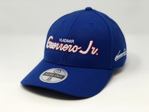 Vladimir Guerrero Jr. Script Hat - Royal Curved Snapback