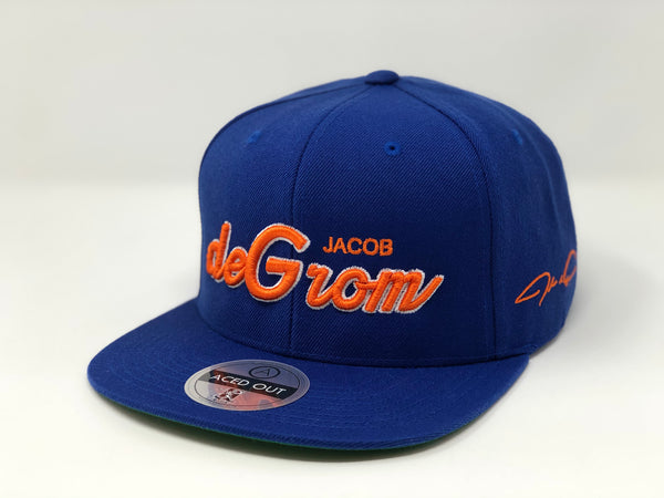 Jacob deGrom Script Hat -  Royal Snapback