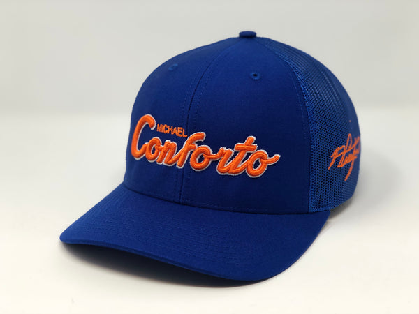 Michael Conforto Script Hat - Royal Trucker