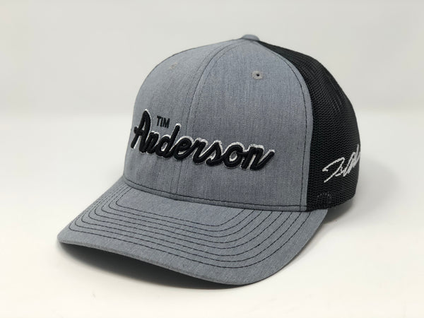 Tim Anderson Script Hat - Grey/Black Trucker