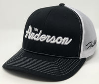 Tim Anderson Script Hat - Black/White Trucker
