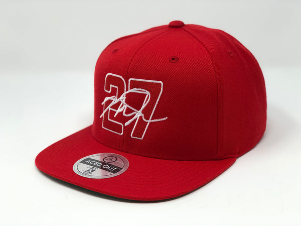 Mike Trout 27 Hat - Red Snapback