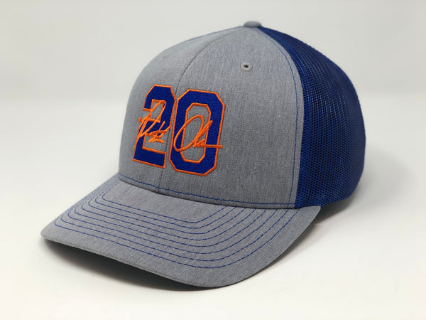 Pete Alonso 20 Hat - Grey/Royal Trucker