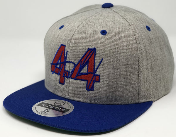 Anthony Rizzo 44 Hat - Grey/Royal Snapback