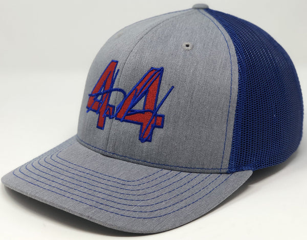 Anthony Rizzo 44 Hat - Grey/Royal Trucker