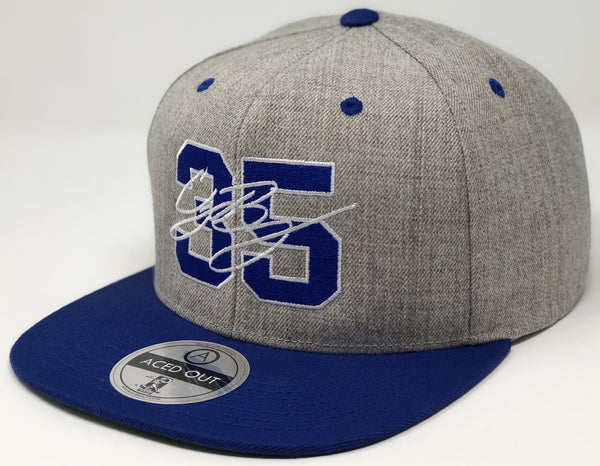 Cody Bellinger 35 Hat - Grey/Royal Snapback