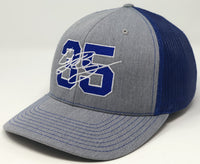 Cody Bellinger 35 Hat - Grey/Royal Trucker