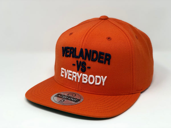 Justin Verlander vs EVERYBODY Hat - Orange Snapback